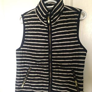 Navy and cream vest - perfect for fall